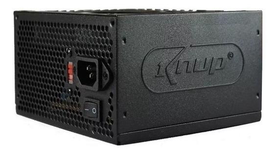 Fonte ATX Knup KP-522 110V/220V preta