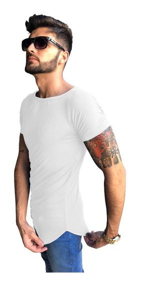 Camisa Básica Longline Swag Oversized Blusa Masculina Slim