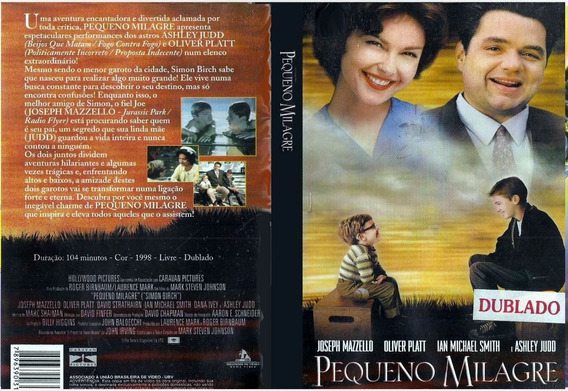 Dvd Pequeno Milagre 1998 - Ashley Judd Jim Carrey - Dublado