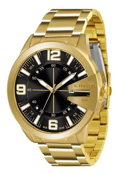 Relógio Lince Masculino Dourado Mrg4333s-d2kx