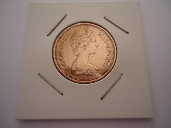 Moeda Bronze 2 Centavos Two New Pence Libra 1971 Inglaterra