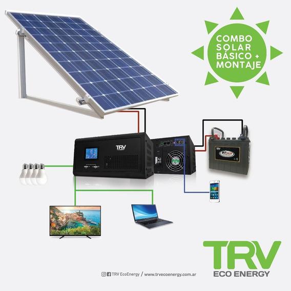 Kit Solar Con Montaje 600w (perfil De Consumo 24 Horas)
