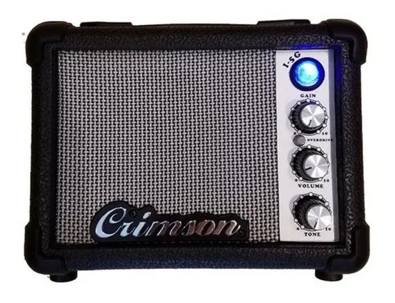 Mini Amplificador Guitarra 5w Crimson Batería 9v