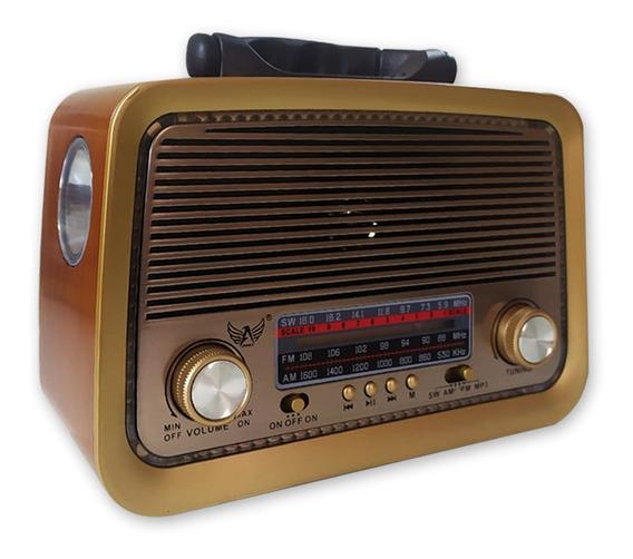Radio Am Fm Usb Antigo Classico Vintage Retro 3 Bandas Led