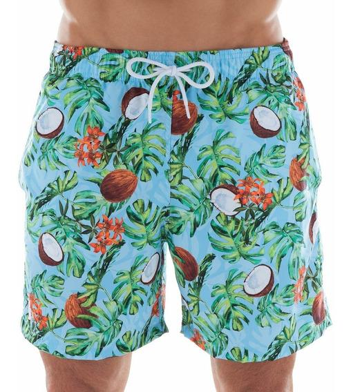Shorts Beachwear Estampado Côco Mash - 613.28