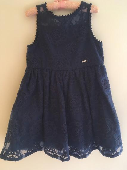 Vestido Marca Puc Para Festa - Azul Marinho - Tamanho 6