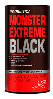 Monster Extreme Black 22 Packs Probiótica Nova Fórmula