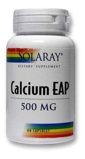 Calcium Eap 500mg - 60 Cápsulas - Solaray Pronta Entrega