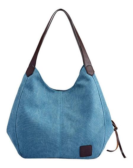 Bolsa Canvas Importada- Cor Azul