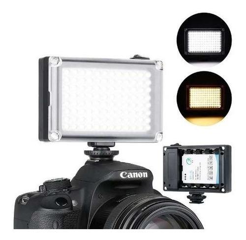 Iluminador Led Hd-160 Camera Canon 70d T5i 96 Leds