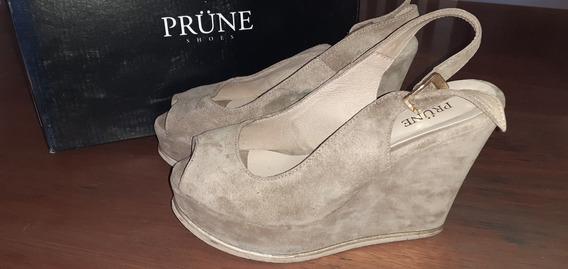 Sandalias Plataforma Zapatos Prune