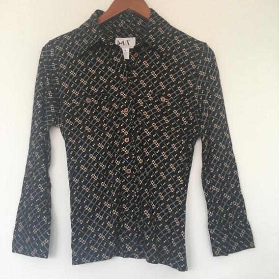 Armani Exchange Blusa Camisa Mujer Estampada Moda Casual