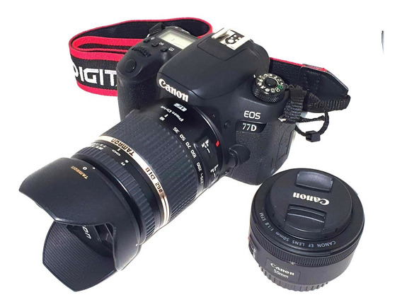 Canon Eos Rebel 77d + Kit Prof Com Tamron 18-270mm F/3.5-6.3