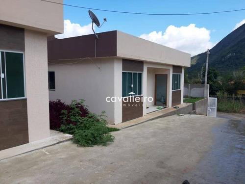 Casa Com 2 Dormitórios À Venda, 56 M² Por R$ 175.000,00 - Manu Manuela - Maricá/rj - Ca3860