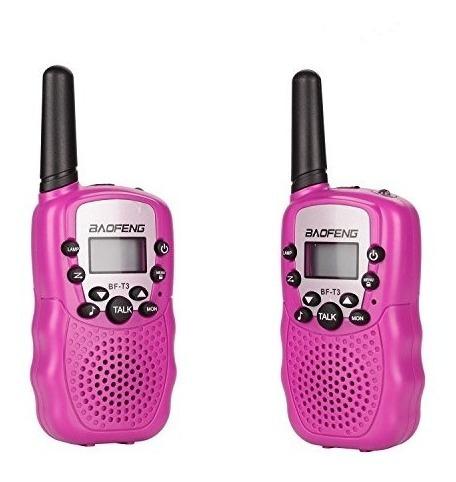 Dois Mini Walkie Talkie Kids Aventura Interfones 3km Rosa