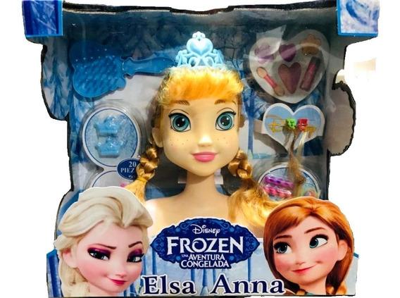 Cabeça Da Boneca Ana Frozen Para Maquiar C/maquiagem