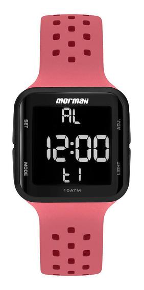Relógio Mormaii Feminino Digital Rosa Quadrado Prova D