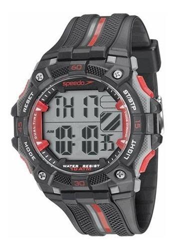 Relógio Masculino Speedo 80629g0evnp3 Digital Preto