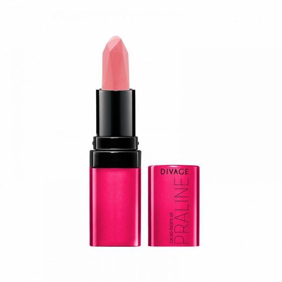 Lapiz Labial Para Mujeres Lipstick Cremoso Divage Fashion Praline Para Damas Color Vibrante, Sedoso E Hidratante