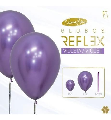 Globo Sempertex R-12 Reflex (cromado) Violeta X 50