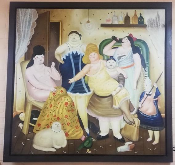 La Casa De Mariduque, Fernando Botero, Reproducción Al Oleo
