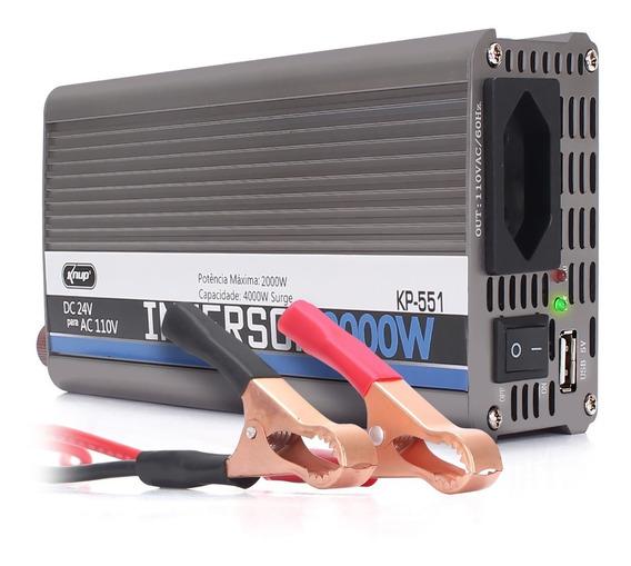 Inversor De Tensao 24v 110v 2000w Knup Kp551 Transformador