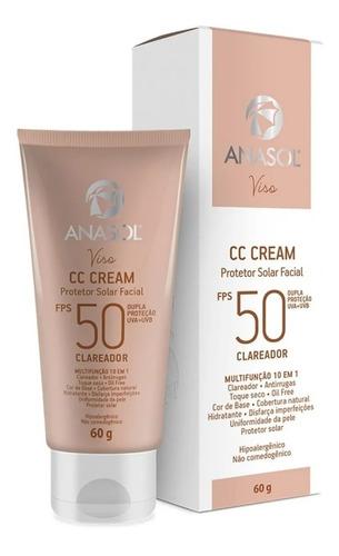 Imagem 1 de 1 de Anasol Base Cc Cream Protetor Fps50 Clareador Oil Free 60g