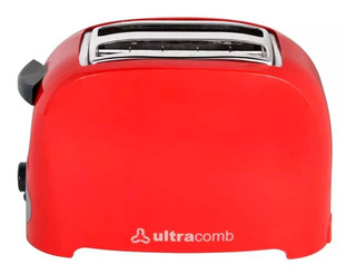 Tostadora Electrica Ultracomb To-4005 750 Watts 2 Fetas Roja