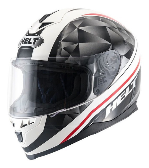 Capacete Helt New Race Carbo White - Preto/branco