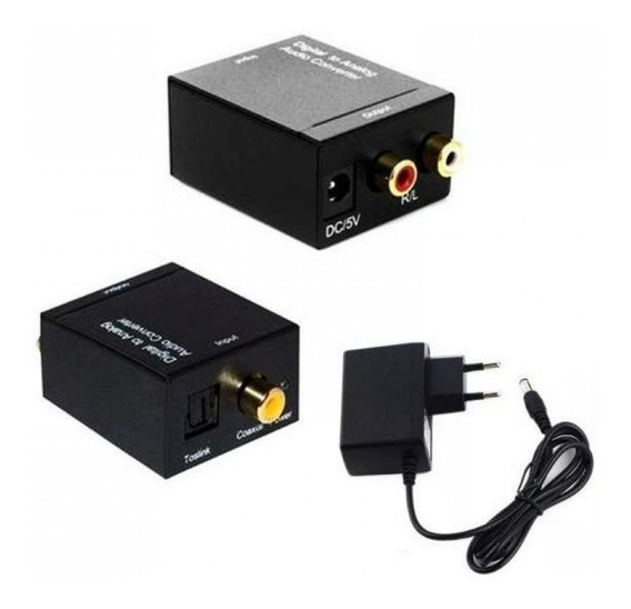 Conversor Áudio Digital Para Tv Som Analógico Av Rca T5528