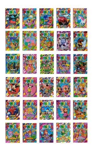 35 Libros P/ Colorear 16 Páginas + Plancha Stickers A Pintar