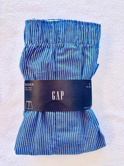 Cueca Boxer Gap Boxer Gap Listras Azul E Branco Tamanho G