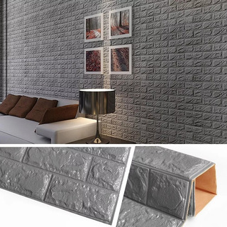 Panel 3d Decorativo Adhesivo Pared Espuma Suave Papel Tapiz