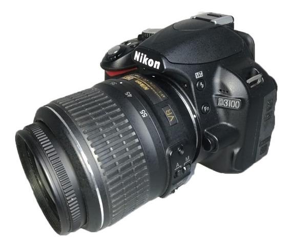 Câmera Nikon D3100 Seminova + Lente + Alça + Carregador