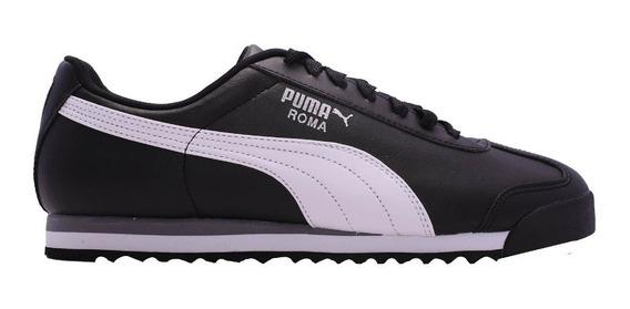 Zapatillas Puma Lifestyle Hombre Roma Basic Negro-blanco Cli