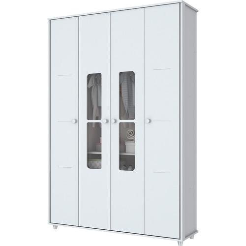 Guarda-roupa Henn Aquarela - Branco - 200x132x44cm