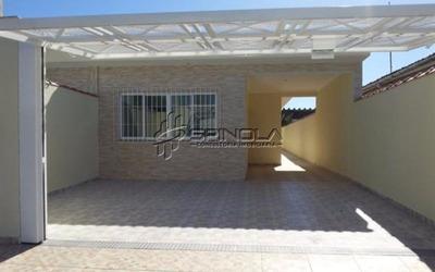 Casa De 3 Dormitórios Nova Com Suíte No Balneário Flórida - Praia Grande