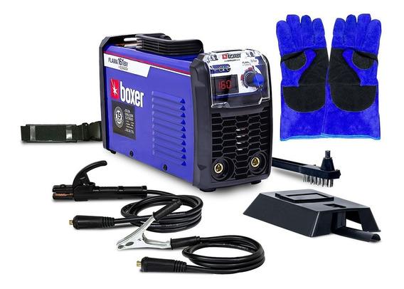 Máquina De Solda Inversora 160 Flama161 Boxer Bivolt + Brind