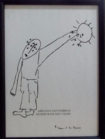 Obra De Arte Gravura Manoel De Barros
