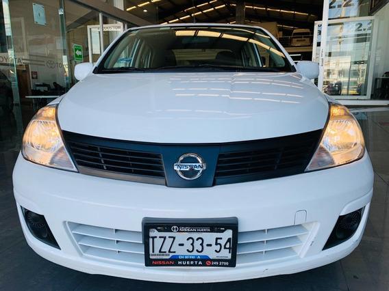 Nissan Tiida Sense 1.8 Tm 2015 Blanco 4 Puertas