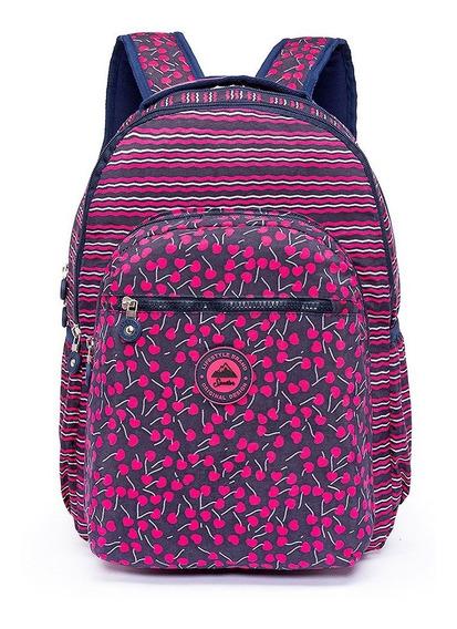 Mochila Feminina Spector Moda Escolar Moderna Rosa Reforçada