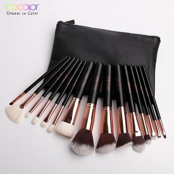 Brochas Docolor 15 Pcs Pro Makeup Brush Set