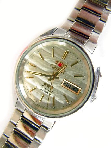 Relógio Orient Cristal Automático Original Pulseira De Aço