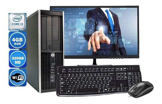 Computador Completo Hp 8100 Intel I3 4gb Hd 320gb Wi-fi