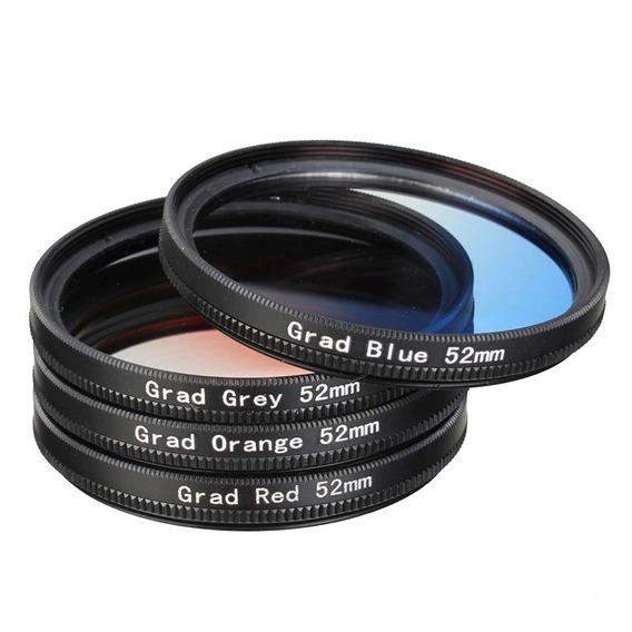 4 Pçs/lote 52mm Graduado Lente Color Kit Filtro Para Nikon D