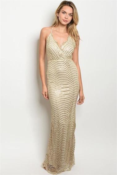 Hermoso Vestido Lentejuela Corte Sirena