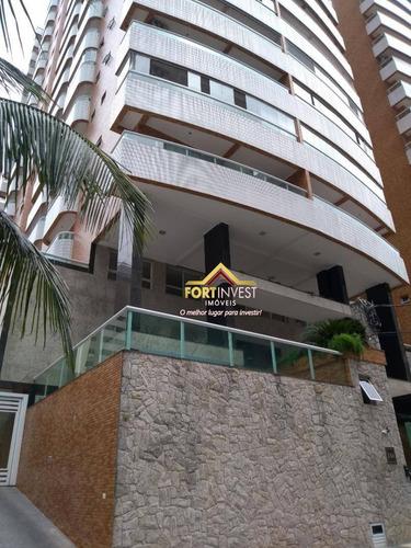 Apartamento Com 1 Dormitório À Venda, 65 M² Por R$ 350.000,00 - Canto Do Forte - Praia Grande/sp - Ap0208