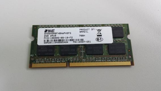 Memória Ddr3 Smart 2gb 2rx8 Pc3 10600s 1333mhz - Notebook