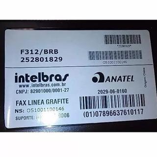 Fax Papel Termico Intelbras Linea F312