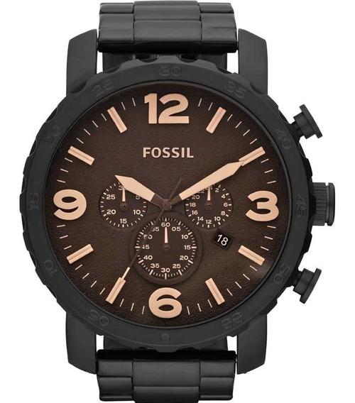 Relógio Fossil Masculino Nate - Jr1356/4mn Preto Nfe